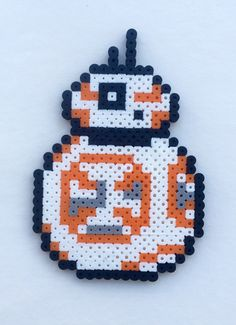 This listing is a PDF pattern to make Perler Bead/Cross Stitch art for BB-8 as seen above.  A US Quarter is used for scale.  Note: This is a