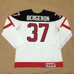 Canada Olympic 100th Anniversary Jersey 37 Patrice Bergeron White