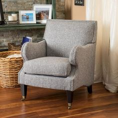 $280 Christopher Knight Home Upholstered Chair - Grey