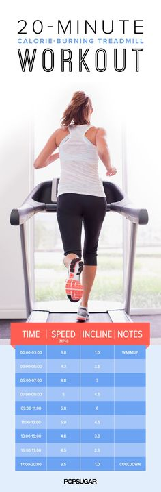 Try this challenging 20-minute treadmill routine.