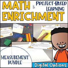 Math Enrichment and Project Based Learning Measurement and Data BUNDLE