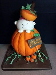 lil pumpkin baby shower cake | Lil' Pumpkin - by sugarartcakes @ CakesDecor.com - cake decorating ...