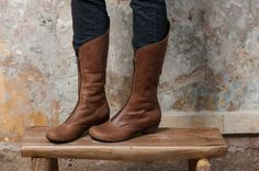 Women Leather Boots / Cowboy Boots / Casual by EllenRubenBagsShoes