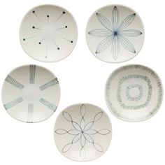 "Set of five small bird dishes - tableware mail order site ""shop Furari of vessel"" 