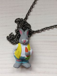 Hideaway Hollow Bunny Necklace by MustBeMitzi on Etsy