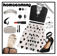 """Homecoming QUEEN style"" by tori-holbrook-th ❤ liked on Polyvore featuring Alice + Olivia, Sans Souci, Valentino, BERRICLE, Effy Jewelry, Ice, ASOS, Oscar de la Renta, Bling Jewelry and NYX"