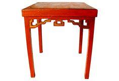 Orange Chinoiserie  End Table on OneKingsLane.com