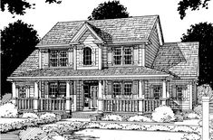 House Plan 68153 | Country   Farmhouse  Southern    Plan with 2101 Sq. Ft., 3 Bedrooms, 3 Bathrooms, 2 Car Garage