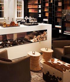 The Study Fireplace Sir Albert Hotel