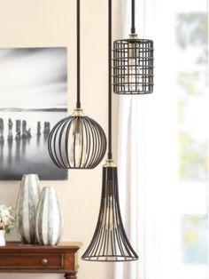 Black-Iron-Chandelier-Trio-Pendant-Lights-Lighting-Modern-Decor-Fixtures-Vintage