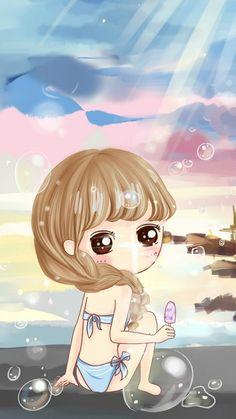 Image discovered by 𝐆𝐄𝐘𝐀 𝐒𝐇𝐕𝐄𝐂𝐎𝐕𝐀 👣. Kawaii Chibi, Cute Chibi, Kawaii Cute, Kawaii Girl, Girl Cartoon, Cute Cartoon, Cartoon Art, Mode Poster, Chibi Girl