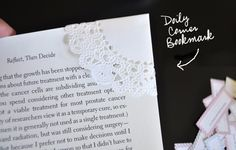 Doily Bookmark