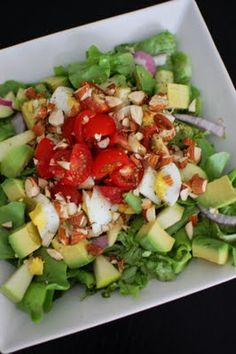 Avacado egg apple salad. I would leave out the egg bc I dont like hard boiled eggs in salads but it is a good source of protein if you like it. These are all just so you can have some ideas and alter them as you like