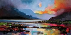 A stunning blend of color, light, and shadow brings the ArtMaison Canada Hills around the Lake Wall Art by Scott Naismith to life. Painting Frames, Painting Prints, Watercolor Paintings, Light Painting, Watercolours, Oil Paintings, Abstract Landscape, Landscape Paintings, Abstract Art