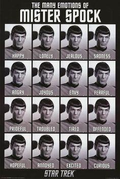 Star Trek Many Emotions of Mr Spock Humor Poster 24x36 – BananaRoad