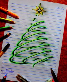 Doodle art 395964992221337190 - Artist Creates Doodles That Leap Off The Page Source by cloesollier Illusion Drawings, 3d Drawings, Illusion Art, Drawing Sketches, Pencil Drawings, Drawing Drawing, Drawing Tips, Drawing Ideas, Drawings On Lined Paper