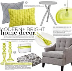 """modern + bright home decor"" by punnky-interiors on Polyvore"