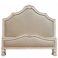 French Shabby Chic Upholstered Bed   Shabby Chic #shabbychic,  #headboardsandbeds