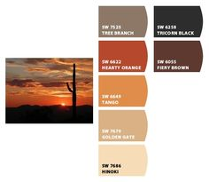 Instantly turn any picture into a palette with ColorSnap, created for you by Sherwin-Williams. Colour Pallete, Colour Schemes, Color Combos, Tan Color Palettes, Desert Colors, Sunset Colors, Tuscan Colors, Beige Paint, Ranch Decor