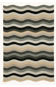 Trans Ocean Carlton Outdoor Waves Black Rug. 10% Off on Trans Ocean Rugs! Area rug, carpet, design, style, home decor, interior design, pattern, trend, statement, summer, cozy, sale, discount, free shipping.