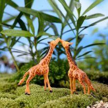 Micro Paisagem Decoração DIY Casa de Boneca Veados Girafa de Plástico Artesanato De Fadas Jardim Miniaturas Terrariums Suculentas Para Casa(China (Mainland))