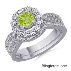 Round #Peridot and #Diamond #Ring SD_SR0343P  #Jewelry http://blingterest.com/rings/diamond-rings/round-peridot-and-diamond-ring-sd_sr0343p-sd_sr0343p-jewelry/