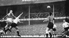 April 20th. 1963 Everton 1 Spurs 0 : Alex Young scores a brilliantly headed goal.