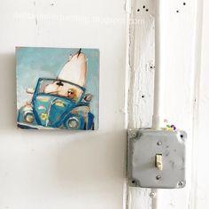 Still my dream car  #convertablebug  #debbiemillerpainting #artstudio