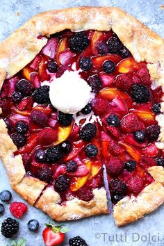 Summer Fruit Crostata.