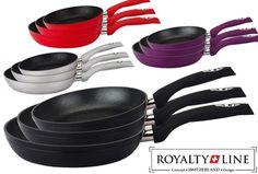 Royalty Line 3-delige koekenpannenset met marmercoating nu slechts €34,95 | Topkwaliteit voor een bodemprijs!