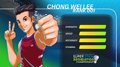 Lee Chong Wei character concept in Super Stick Badminton.  (>'.')>=O____l_*__O=<('.'<)