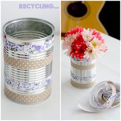 De vuelta y Reciclando: latas de conservas