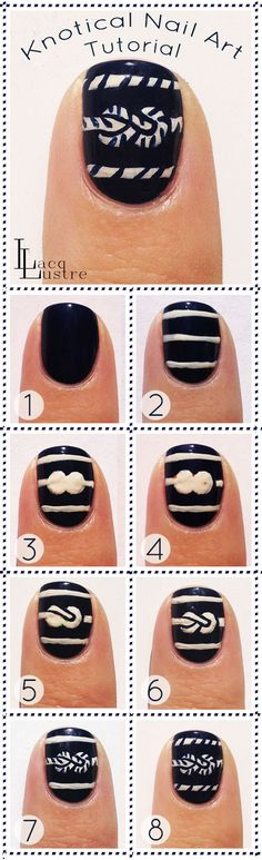 Knotical Nautical Tutorial by LacqLustre http://www.lacqlustre.com/2014/03/knotical-nail-art-tutorial.html