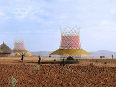 The structure is designed to wring water out of thin air, providing a sustainable source of H2O for developing countries.