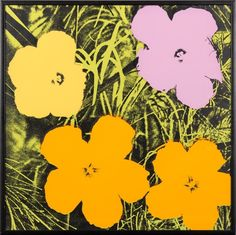 Paddle8: Flowers - Andy Warhol