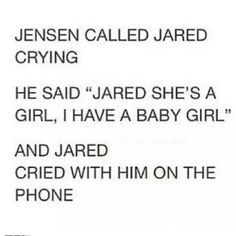 OH MY GOD!!THIS IS THE SWEETEST THING I HAVE HEARD!! LOVE U JENSEN AND JARED!!