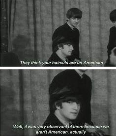 John Lennon on hair