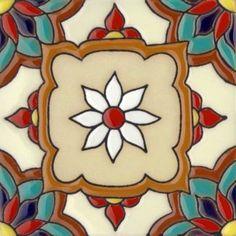Jazmin 2 Santa Barbara Ceramic Tile Malibu Tile Jazmin 2 From Santa Barbara Ceramic Tile Collection Motifs Art Nouveau, Art Nouveau Tiles, Tile Art, Mosaic Tiles, Pool Tiles, Outdoor Window Trim, Spanish Tile, Tile Projects, Santa Barbara