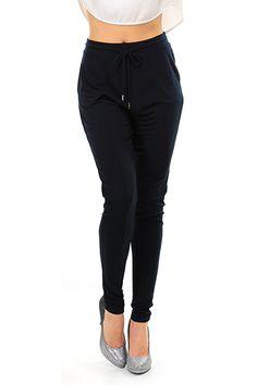 Michael Kors - Pantaloni - Abbigliamento - Pantaloni in tessuto morbido con coulisse regolabile in vita. Tasche laterali. - NEW NAVY - € 110.66