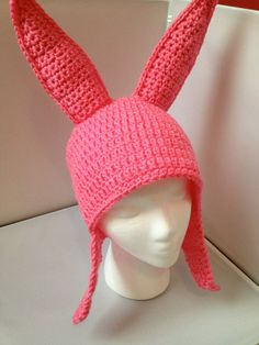 Louise Belcher (Bob's Burgers) crochet hat pattern on Etsy
