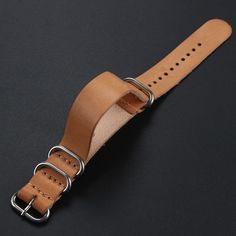 Khaki Light Brown 18 mm 20 mm 22 mm Watch Band Genuine Leather With Stainless Steel Pin Buckle Watch Strap For Sport Watches Leather Keychain, Leather Pouch, Leather Tooling, Leather Men, Leather Accessories, Leather Jewelry, Leather Bag Tutorial, Leather Projects, Leather Watch Bands