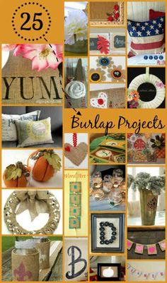 25 Clever Burlap DIY Projects | DIY Home Decor, Free Craft Tutorials, FiberArtsy.com