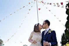 Bunting at weddings copyright Elizabeth Armitage Photography