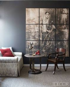 A clever way to showcase a favorite photo ~Elle Decor~