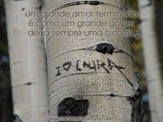 Um grande amor terminado é como um grande golpe: deixa sempre uma cicatriz.