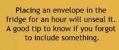Unsealing an envelope