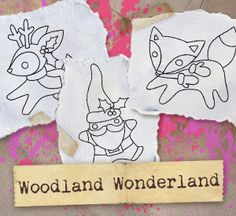 Woodland Wonderland (Urban Treads Design Pack of 6), Craft a charming woodland Christmas! Designs download as PDFs; use pattern transfer paper to trace designs for hand-stitching.
