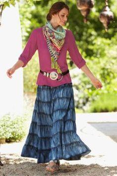 Vintage Indigo Skirt from Soft Surroundings