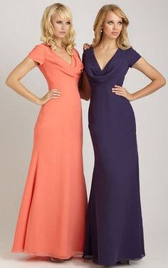 Bridesmaid Dresses,Zipper Bridesmaid Dresses,Elegant Sheath Floor-length Dresses for Bridesmaid