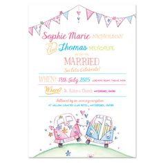 Campervan Wedding Invitations #kombilove #kombiweddings